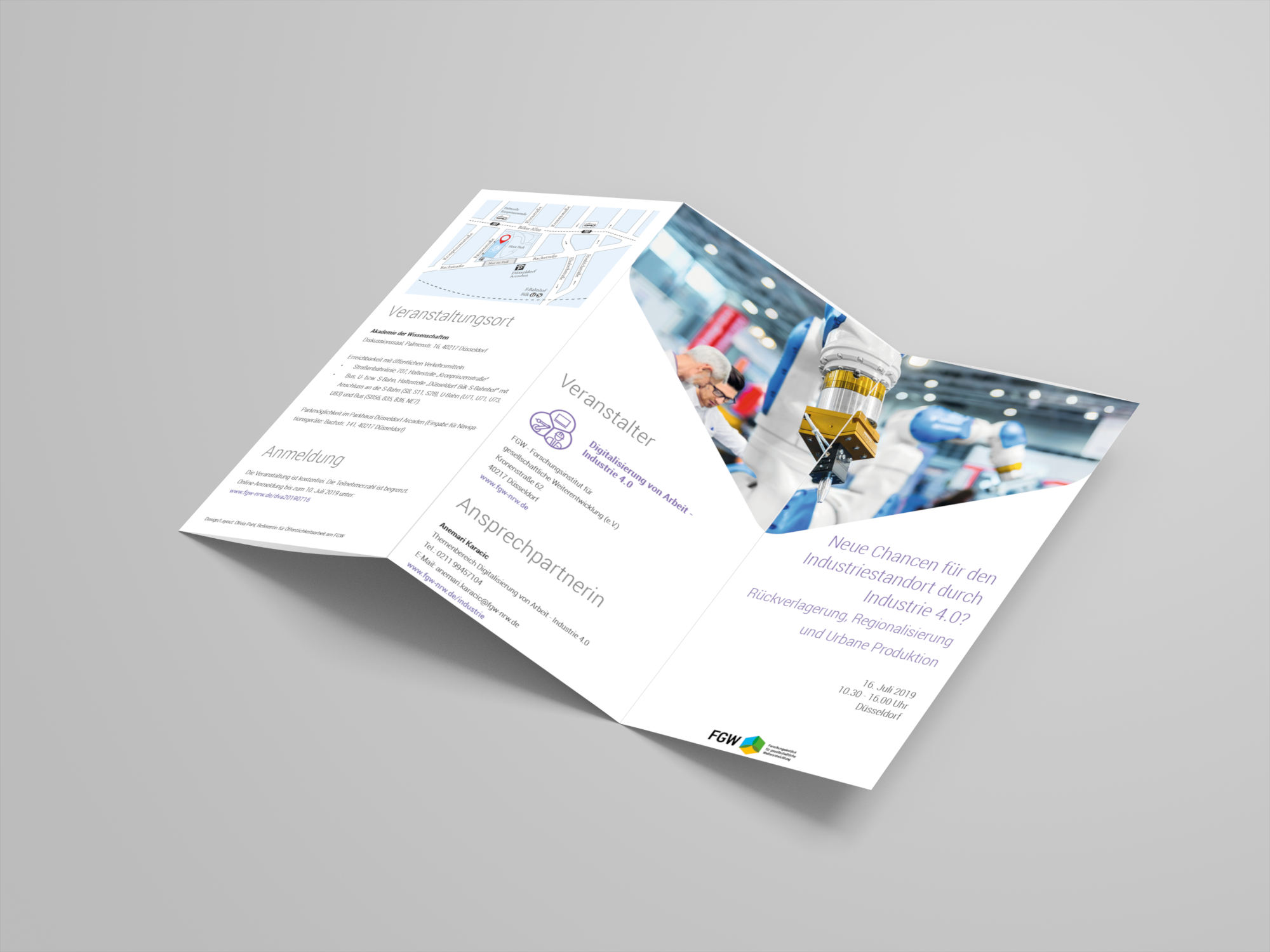 Flyer Layout (Front, Trifold)